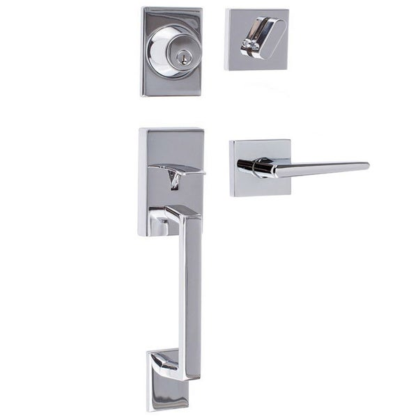 Sure Loc Modern Front Entrance Handle Set 18575427