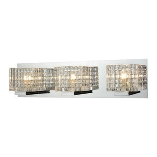 Alico Chastain 3-light Vanity in Chrome and Clear Glass