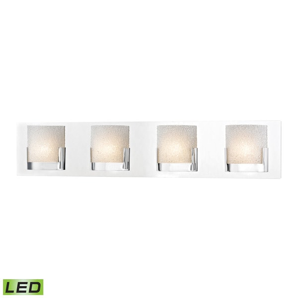 Alico Ophelia 4-light LED Vanity in Chrome and Clear Glass
