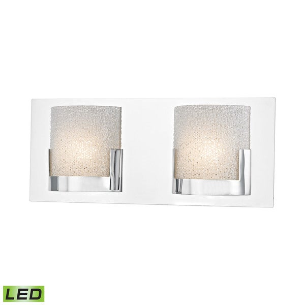 Alico Ophelia 2-light LED Vanity in Chrome and Clear Glass