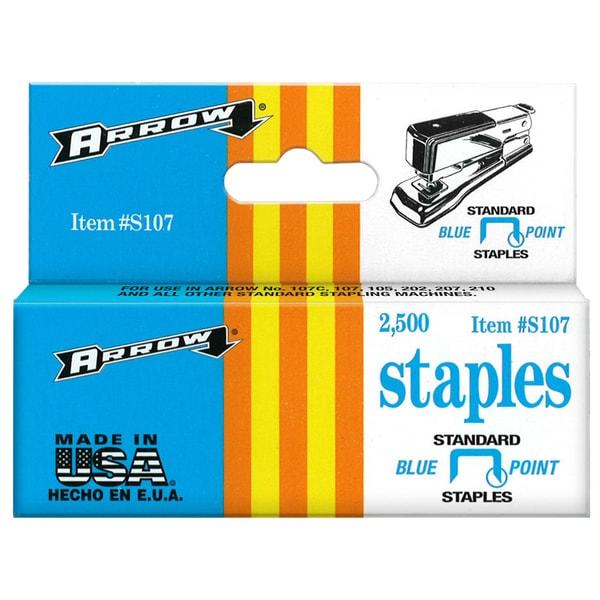 "Arrow Fastener S107 1/4"" Standard Desk Staples"
