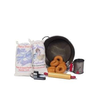 """The Queen's Treasures Salvation Army American WWI Doughnut Girl Kitchen Accessory Set, Fits 18"""" Girl Doll Accessories & Food"""