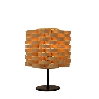 Bamboo Weave Cylinder Natural Lamp (Philippines)