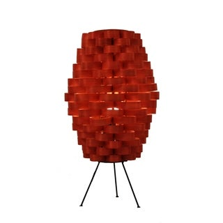Bamboo Slat Weave Retro Orange Lamp (Philippines)