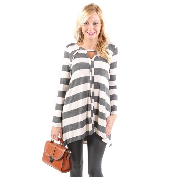 Hadari Women's 3/4 Sleeve Striped Top