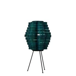 Petal Slat Bamboo Sea Blue Table Lamp (Philippines)