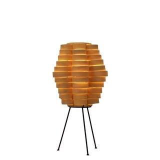 Petal Slat Bamboo Natural Table Lamp (Philippines)