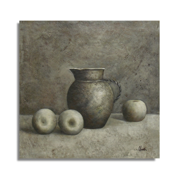 A Monochromatic Still Life Peace and Quiet Oil Painting on Canvas Wall Art
