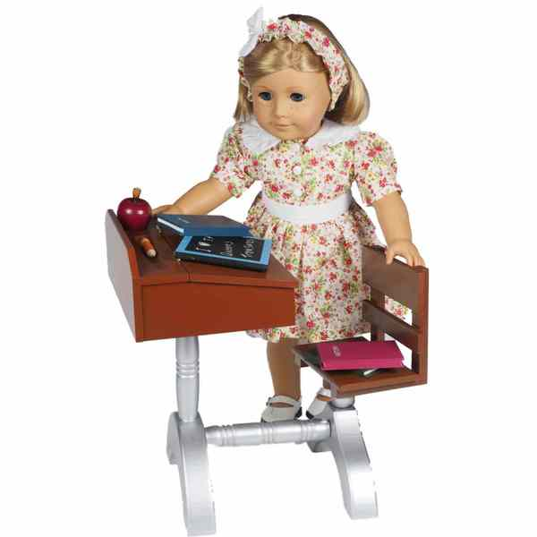The Queen's Treasures 1930 American Style School Desk and Accessories Furniture and Accessories for 18-inch Girl Dolls