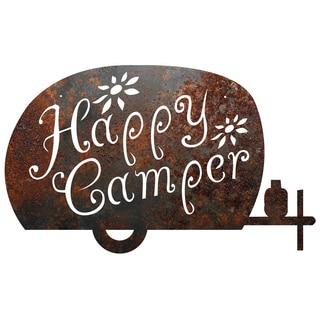 Rustic Metal 'Happy Camper' Sign