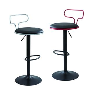 LumiSource Contour Contemporary Adjustable Bar Stool