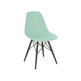 Mid Century Peppermint Side Chair with Walnut Wood Base (Set of 5)
