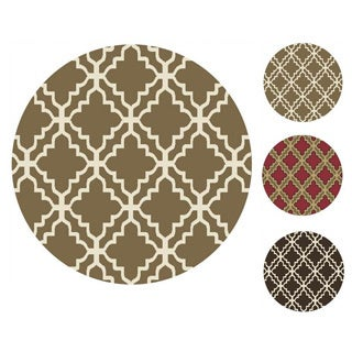 """Home Dynamix Reaction Collection Transitional (39"""") Round Machine Made Polypropylene Area Rug"""