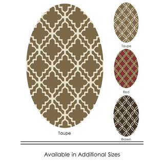 """Home Dynamix Reaction Collection Transitional (31"""" x 50"""") Oval Machine Made Polypropylene Area Rug"""