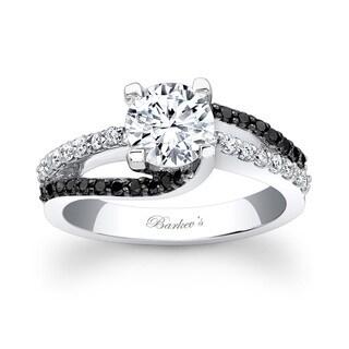 Barkev's Designer 14k White Gold 1 2/5ct TDW Black and White Diamond Engagement Ring (F-G, SI1-SI2)