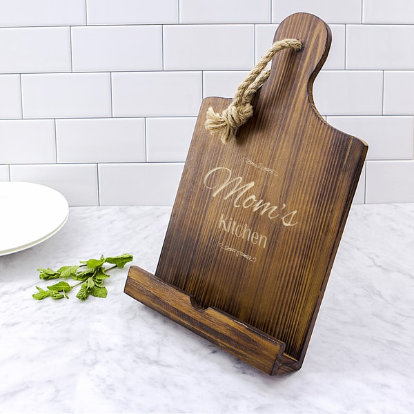 Mother's Day Brown Wooden iPad and Recipe Stand