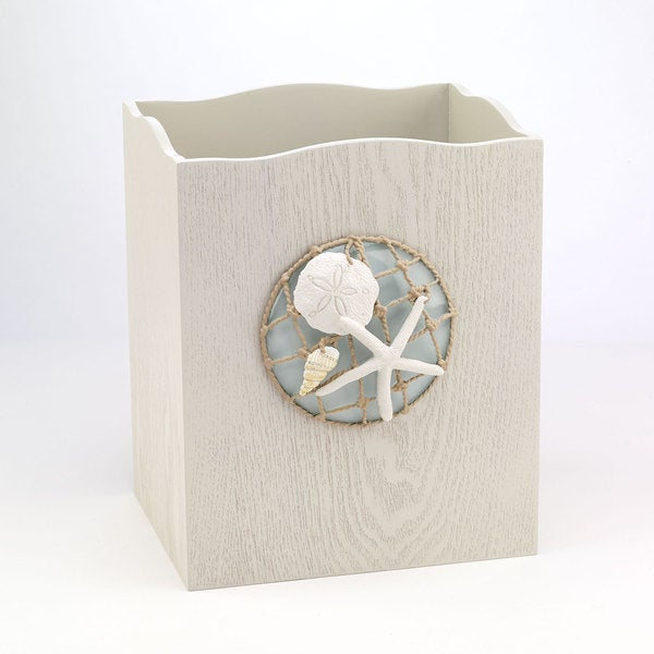 Sea Glass Wastebasket