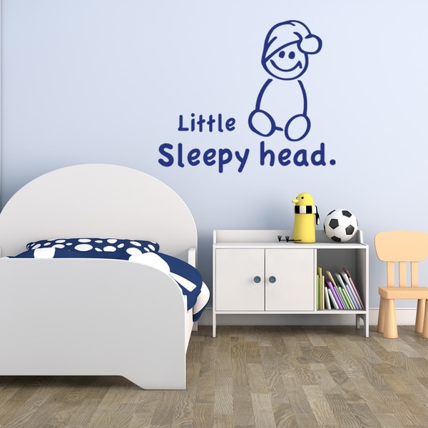 Little Sleepy Head Vinyl Mural Wall Decal