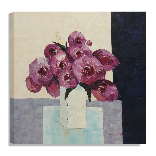 Floral Still-life in Vase Oil Painting on Canvas Wall Art