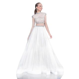 Terani Couture Two-piece Long Organza Ballgown