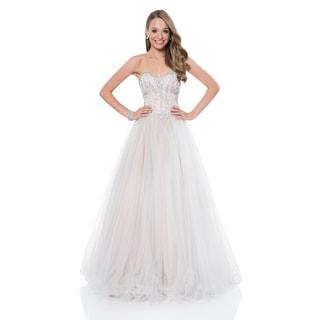 Terani Couture Strapless Sweetheart Ballgown