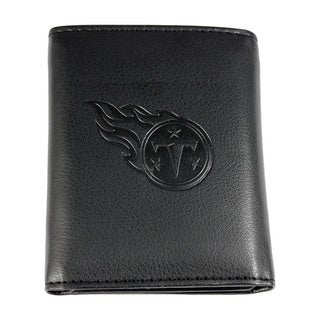 NFL Sports Team Tennessee Titans Embossed Tri-fold Leather Wallet Black