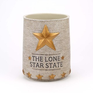 Lone Star Ivory Waste Basket
