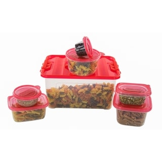 54 Pcs Reusable Plastic Food Storage Containers Set with Air Tight Lids