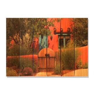 La Casa 33x24 Indoor/ Outdoor Full Color Cedar Wall Art