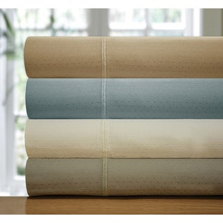 Luxury Dobby Dot 300 Thread Count 100% Pima Cotton Sheet Set