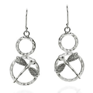 Charming Dragonfly Handmade HillTribe Silver Earrings (Thailand)