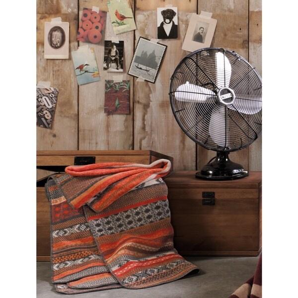 Sorrento Folklore Fair Isle Oversized Throw Blanket with Whipstitch