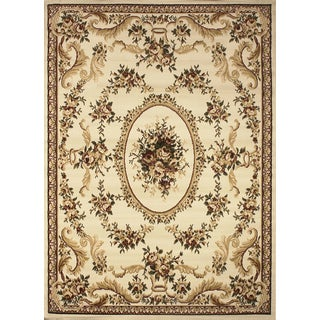 """Home Dynamix Royalty Collection Ivory 5'2""""X7'2 Machine Made Polypropylene Area Rug"""