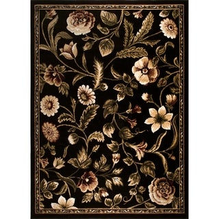 "Home Dynamix Optimum Collection Black (5'2"" X 7'2"") Machine Made Polypropylene Area Rug"
