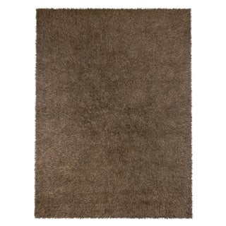 """Home Dynamix Synergy Collection Brown (4'9"""" x 6'6"""") Machine Made Polypropylene Area Rug"""