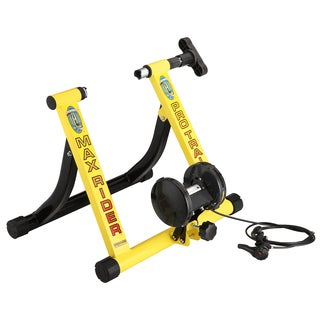 RAD Cycle Yellow Bike Trainer Indoor Bicycle Exercise Six Levels of Resistance