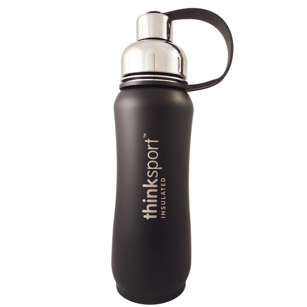 ThinkSport 17-ounce Insulated Matte Black Bottle