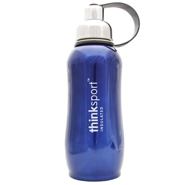 ThinkSport 25-ounce Metallic Blue Sport Insulated Bottle