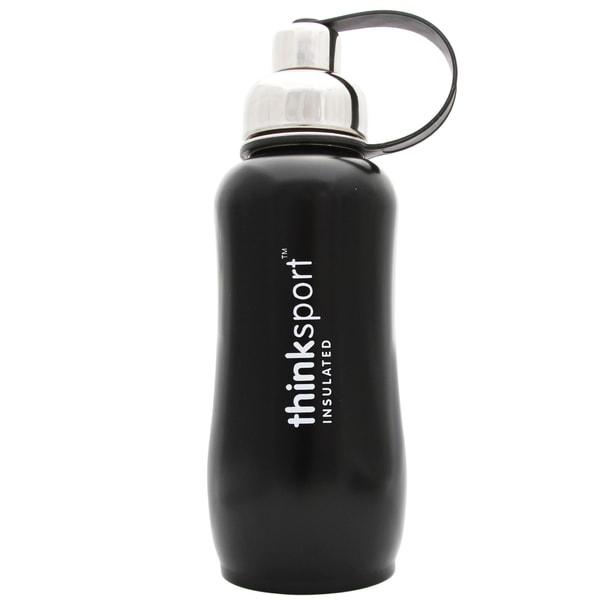 ThinkSport 25-ounce Matte Black Insulated Water Bottle
