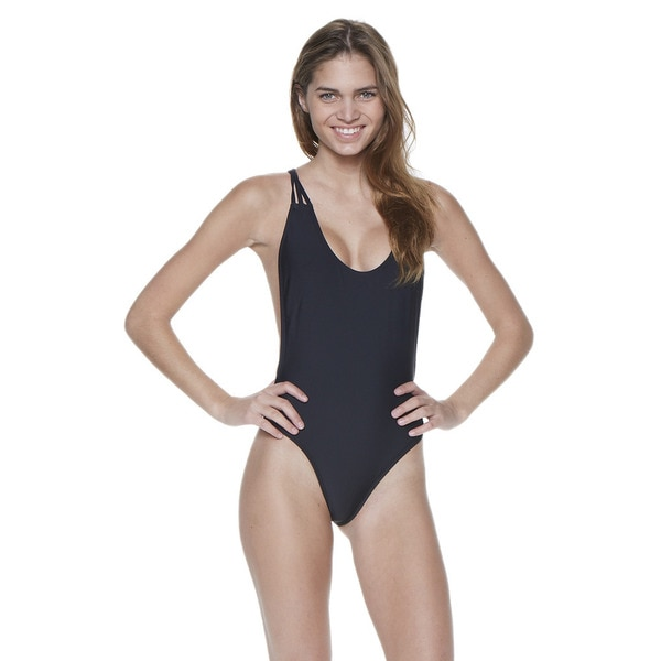 Dippin' Daisy's Solid Black Strappy Crossback One-Piece Swimsuit