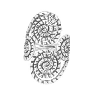 Contempo Coil Spiral HillTribe Silver Adjustable Wrap Ring (Thailand)
