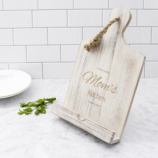 Mother's Day White Wooden iPad & Recipe Stand
