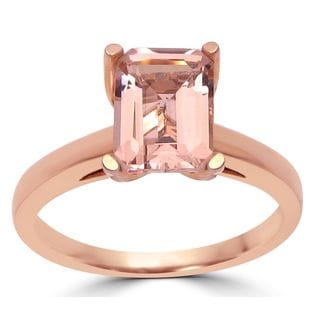 Noori 14k Rose Gold 1 3/5ct TGW Morganite and 1/10ct TDW Diamond Engagement Ring (G-H, SI1-SI2)