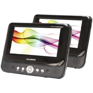 Sylvania SDVD8737 7-inch Dual Screen Portable DVD Player (Refurbished)