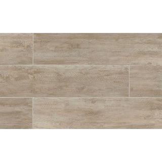 River Wood Oak Look Porcelain Tile (8-inch x 24-inch)