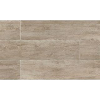 River Wood Oak Look Porcelain Tile (8-inch x 24-inch)