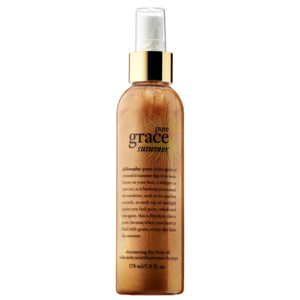Philosophy Pure Grace Summer Shimmering Dry 5.8-ounce Body Oil