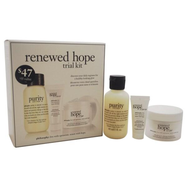 Philosophy Renewed Hope Trial Kit 3-piece Set 18071908