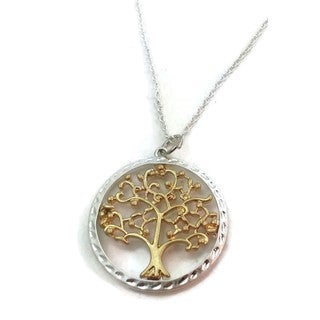 Handmade Sterling Silver Eternal Life Tree Pendant Necklace