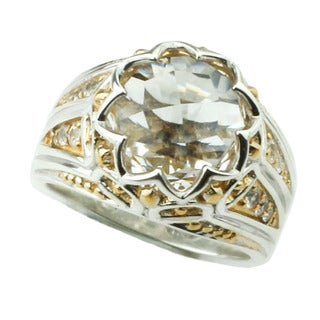 One-of-a-kind Michael Valitutti Rock Crystal and White Sapphire Ring (Size 9)
